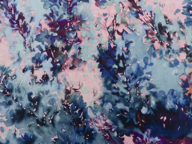 tessuto rosa e blu