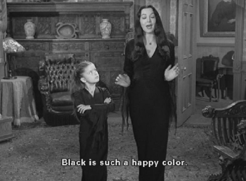 voglio smettere di vestirmi di nero