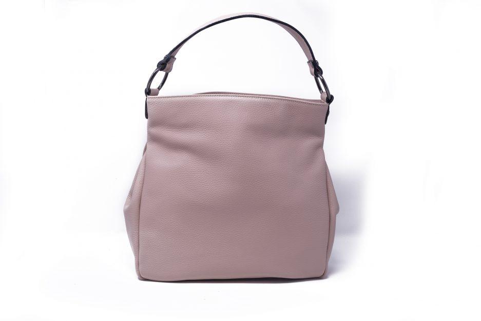 borsa pelle rosa