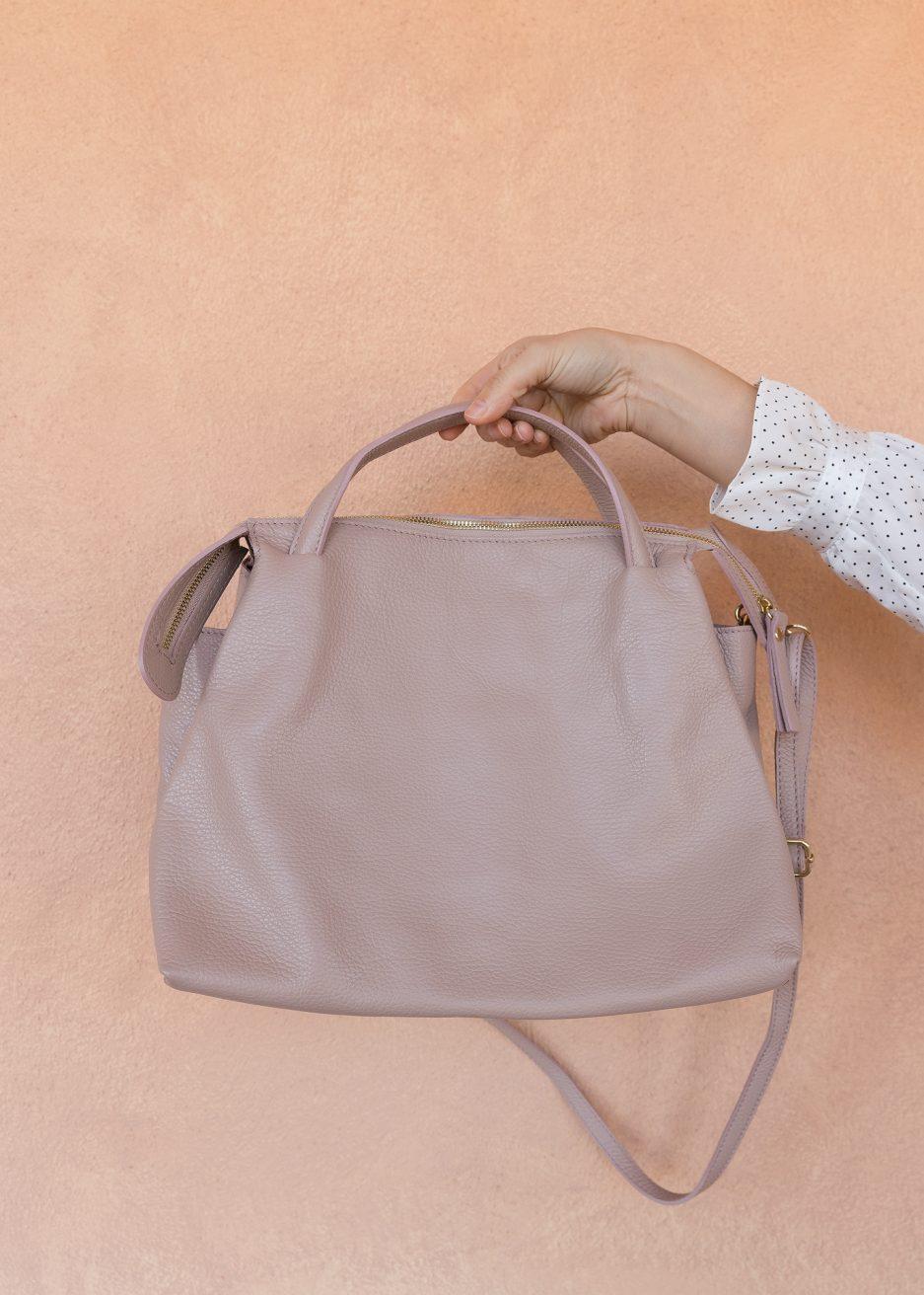 borsa rosa cipria da giorno