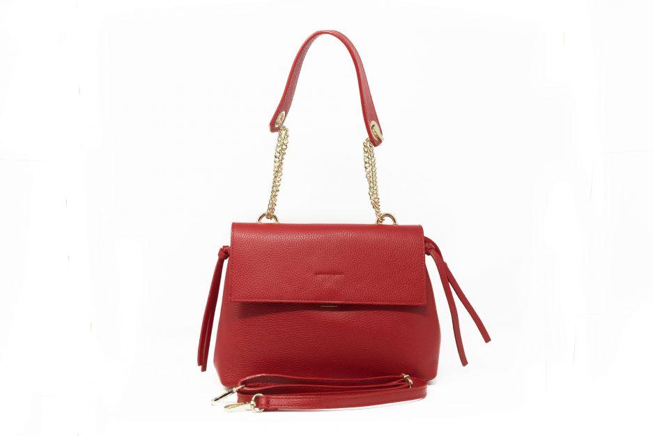 borsa rossa moda essenziale