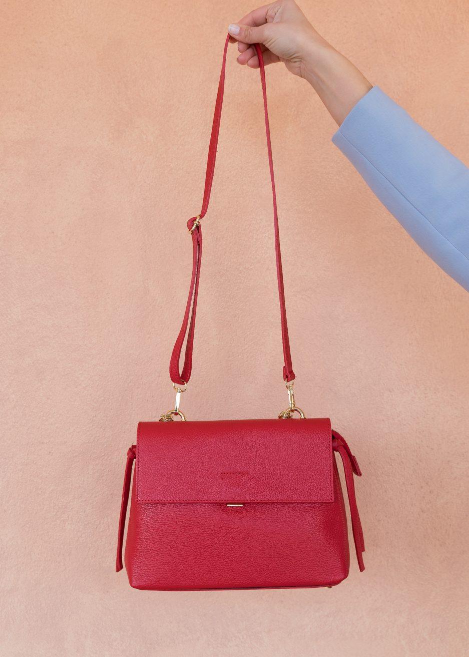 borsa rosso fuoco