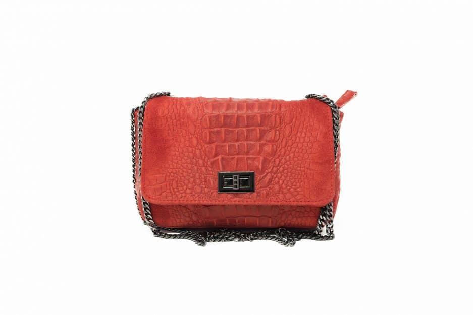 borsa coccodrillo rossa