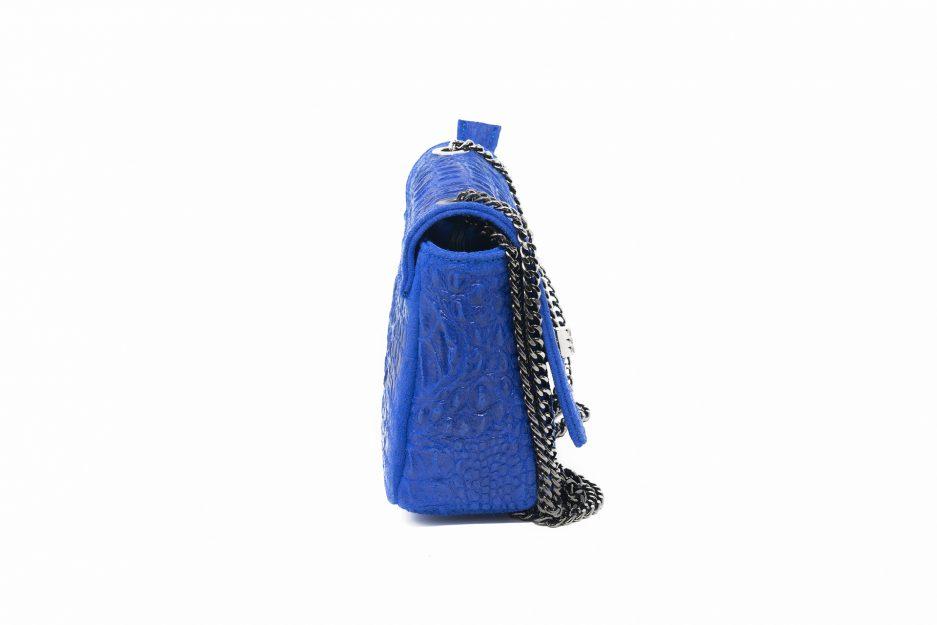 borsa piccola blu elettrico