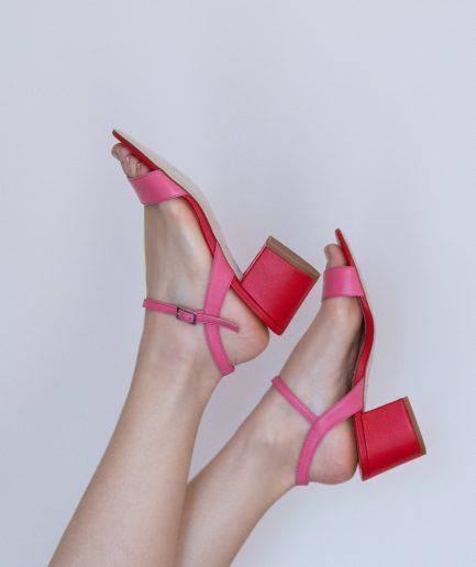 sandali tacco largo basso