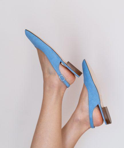 slingback azzurre