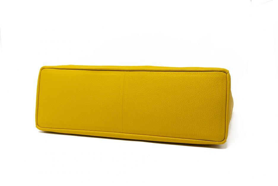 borsa gialla vera pelle