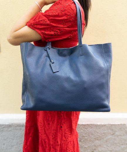 borsa shopper blu