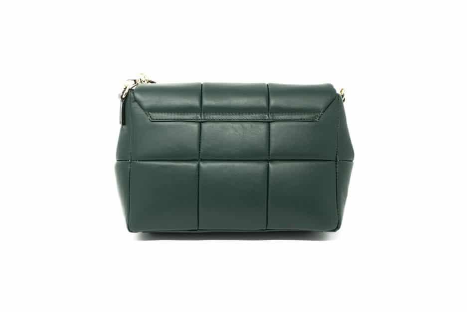 borsa pelle verde