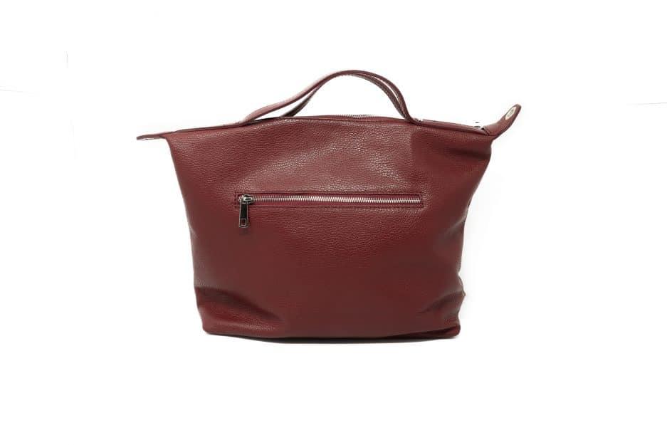 borsa shopper pelle rossa