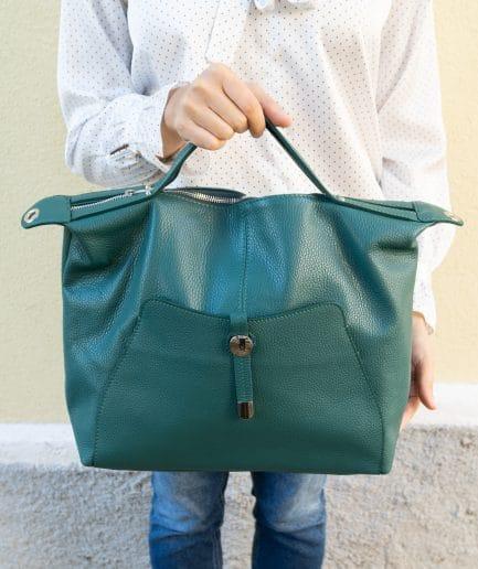 borsa verde smeraldo