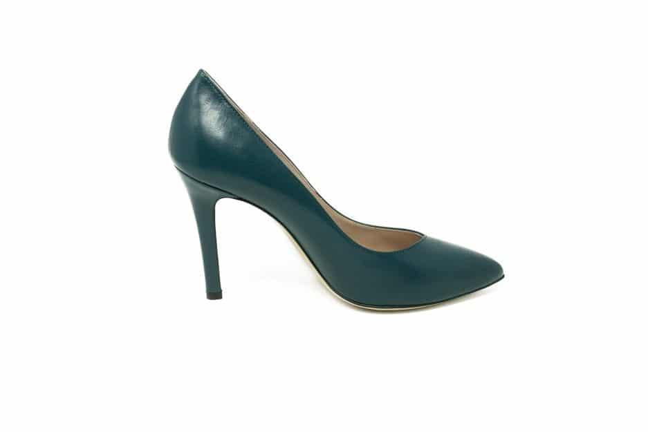 scarpe verde petrolio