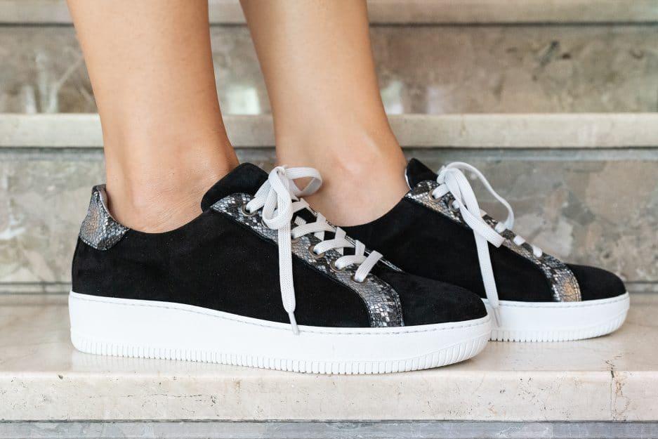 sneakers nere eleganti